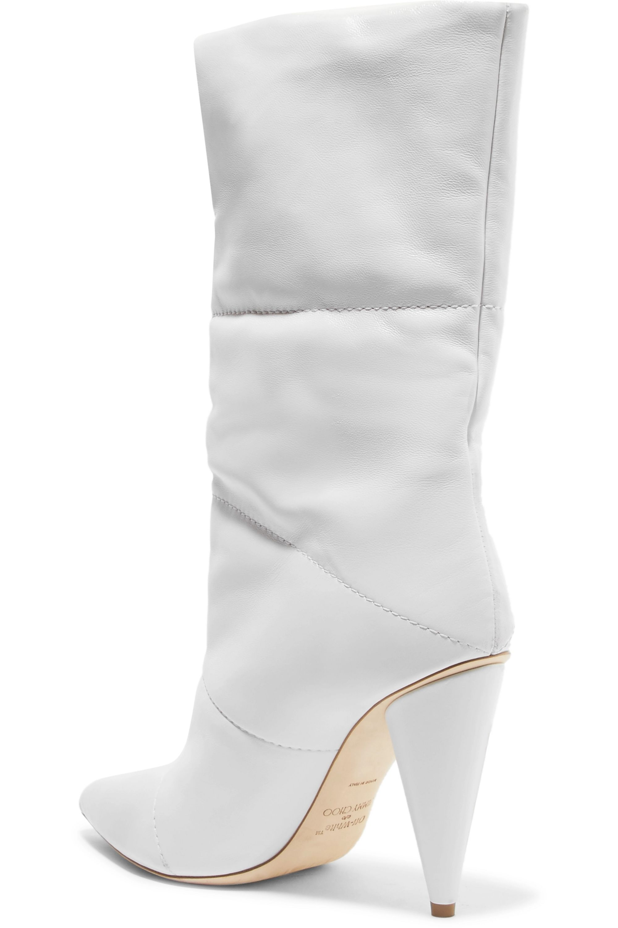 Off-White C/O Jimmy Choo Sara 100 quilted leather boots