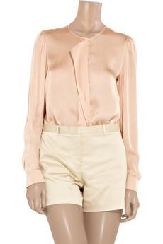Stella McCartney Draped-front silk blouse