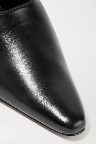 DORATEYMUR Groupie Mules aus strukturiertem Leder Original-Verkauf Steckdose Niedrigsten Preis zaDTBjdx
