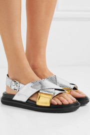 Fussbett metallic snake sandals