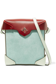 Manu Atelier Pristine mini color-block leather and suede shoulder bag