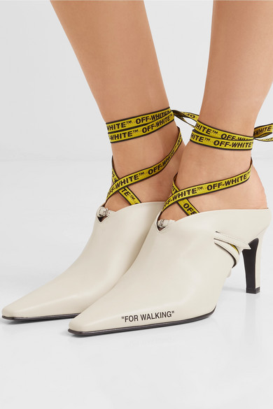 off white for walking leather mules net a porter com