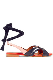 Malone Souliers + Roksanda Marlene color-block leather sandals