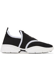 Kaisee mesh and neoprene slip-on sneakers