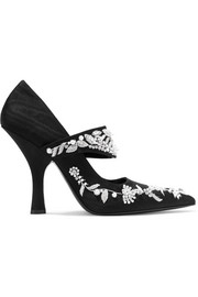 Idetta embellished moire pumps