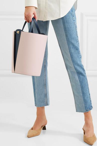Danse Lente. Lorna mini color-block leather bucket bag. HK 3 7d5962d437c92