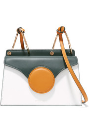 Phoebe mini color-block leather shoulder bag