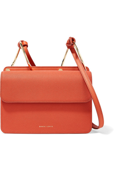 Danse Lente Mia Smooth And Textured Leather Shoulder Bag