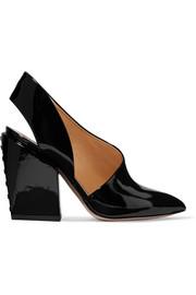 Petar Petrov Siri patent-leather slingback pumps