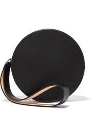 Puck leather clutch