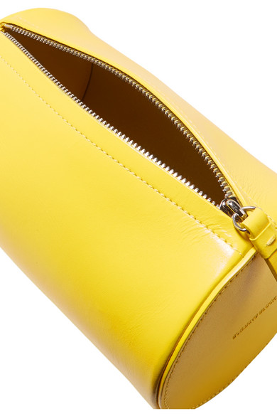 Cylinder Leather Clutch - Bright yellow Building Block ry1kDmKS6F