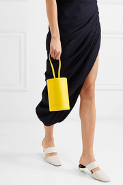 Cylinder leather clutch
