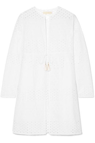 PALOMA BLUE Cala Broderie Anglaise Cotton Kimono in White