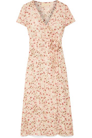 Siena wrap-effect floral-print silk-chiffon dress