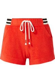 + Margherita Sportivo striped cotton and modal-blend terry shorts