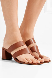 Anthos cutout leather mules