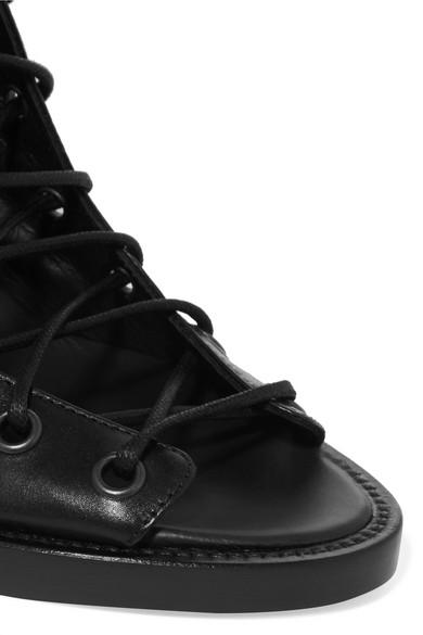 Ann Demeulemeester Geschnürte Ankle Boots aus Leder Billig Verkaufen Große Überraschung Outlet Großer Rabatt Günstig Kaufen Shop Verkauf Sammlungen NagRuR