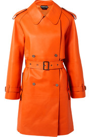 TOM FORD Trench-coat à double boutonnage en cuir