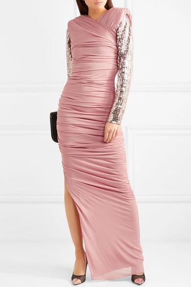 Gigi Embellished Ruched Jersey Gown - Blush Tom Ford UdAY8vnxB