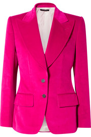 TOM FORD Cotton and linen-blend velvet blazer
