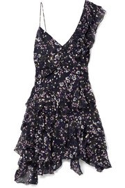 Isabel Marant Manda floral-print metallic fil coupé silk-blend mini dress