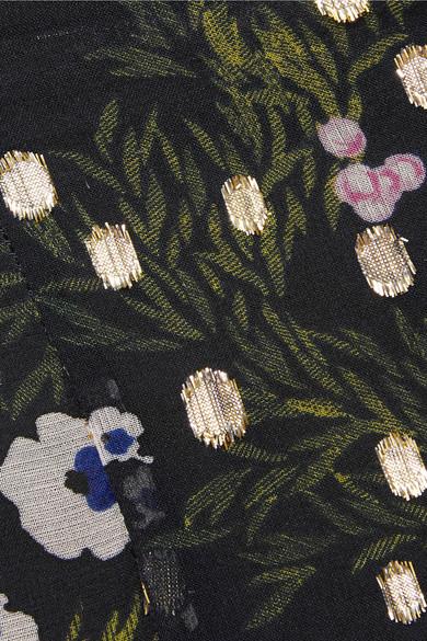 Isabel Marant Myles Rock aus Georgette aus einer Seidenmischung mit Fil Coupé und floralem Print