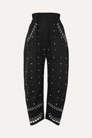 Isabel Marant Eloma embellished cotton-canvas tapered pants