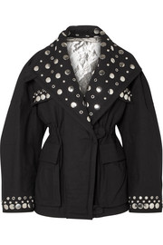 Emmetis reversible embellished cotton-canvas jacket