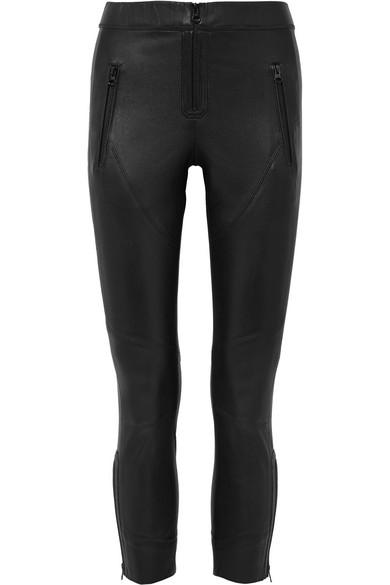 Isabel Marant Happy eng geschnittene Hose aus Leder