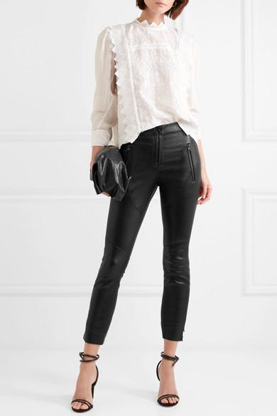 Happy Leather Skinny Pants - Black Isabel Marant g4ij1l25