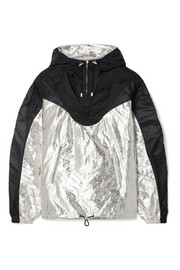 Richie hooded two-tone metallic shell jacket