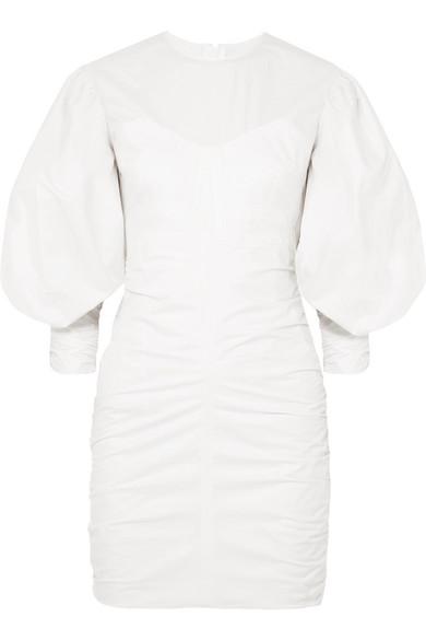 Isabel Marant May gerafftes Minikleid aus Baumwolle Bestpreis Bestseller AGnVET