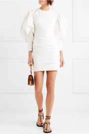 May ruched cotton mini dress