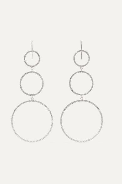 Isabel Marant - Silver-plated Crystal Earrings