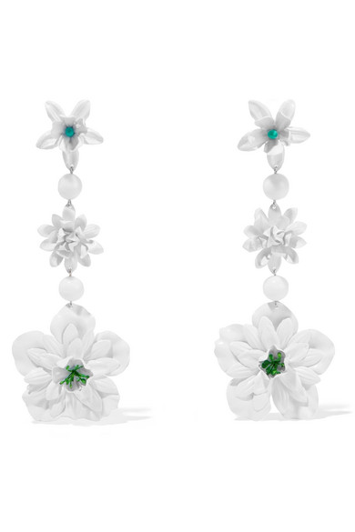 Silver-tone Pvc Earrings - White Isabel Marant 82yERLA8s