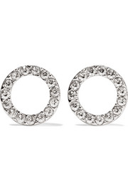 Isabel Marant Silver-plated crystal earrings