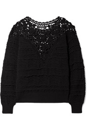 Camden lace and crocheted cotton sweater