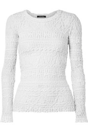 Isabel Marant Yulia stretch cotton-blend lace top