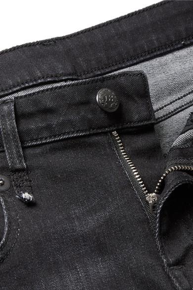 R13 Boy halbhohe Jeans mit geradem Bein in Distressed-Optik