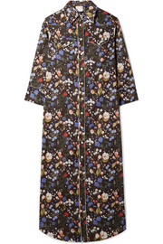 R13 Floral-print cotton-voile midi dress
