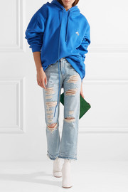 Bowie cropped distressed mid-rise straight-leg jeans