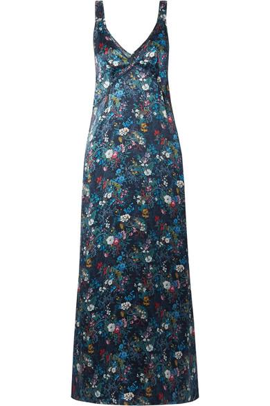 R13 Maxikleid aus Seiden-Georgette mit floralem Print Rabatt Limitierte Auflage Freies Verschiffen Shop Outlet Beliebt Online-Shopping Günstig Online Original-Verkauf FZAmdgZt