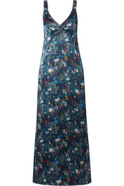 R13 Floral-print silk-georgette maxi dress