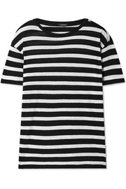 R13 Boy striped cotton and cashmere-blend T-shirt