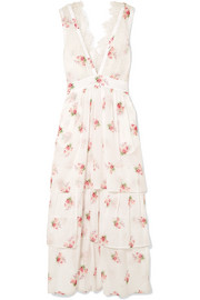 Brock Collection Dale lace-trimmed floral-print cotton-voile dress