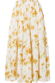 Brock Collection Sonny floral-print cotton-voile midi skirt