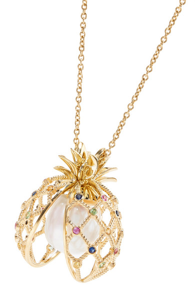 18-karat Gold Multi-stone Necklace - one size Yvonne L 1FsoKLTuK0