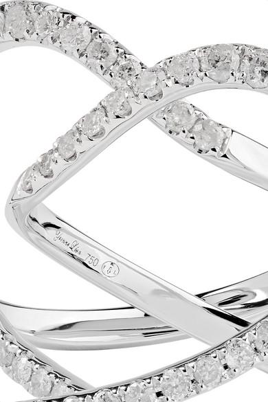 Set Of Two 18-karat White Gold Diamond Rings - 54 Yvonne L HXgLfmMHj