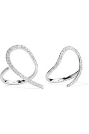 Set of two 18-karat white gold diamond rings
