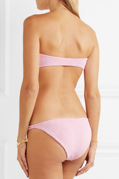 HUNZA G Jean Bandeau-Bikini aus Seersucker